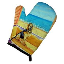 East Urban Home Bloodhound Couch Sitting Oven Mitt Polyester in Blue/Brown, Size 8.5 W in | Wayfair EAAS4597 39999464