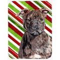 The Holiday Aisle® The Holiday Aisle Staffordshire Bull Terrier Staffie Candy Cane Christmas Glass Cutting Board Glass   Wayfair THLA3775 39991363