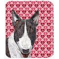 The Holiday Aisle® The Holiday Aisle Bull Terrier Valentine's Love Rectangle Glass Cutting Board Glass, Size 0.15 H x 15.38 W x 11.25 D in   Wayfair