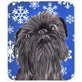 The Holiday Aisle® The Holiday Aisle Brussels Griffon Snowflake Glass Cutting Board Glass, Size 0.15 H x 15.38 W x 11.25 D in | Wayfair