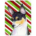 The Holiday Aisle® The Holiday Aisle Chihuahua Candy Cane Holiday Christmas Glass Cutting Board Glass, Size 0.15 H x 15.38 W x 11.25 D in   Wayfair