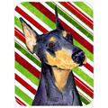 The Holiday Aisle® The Holiday Aisle Doberman Candy Cane Holiday Christmas Glass Cutting Board Glass, Size 0.15 H x 15.38 W x 11.25 D in   Wayfair