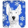 The Holiday Aisle® The Holiday Aisle Bull Terrier Rectangle Snowflake Glass Cutting Board Glass, Size 0.15 H x 15.38 W x 11.25 D in   Wayfair