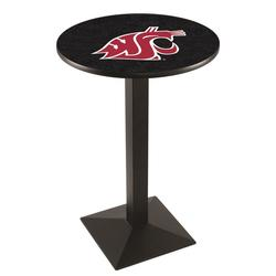 """""""Washington State Cougars 42"""""""" Square Base Black Pub Table"""""""