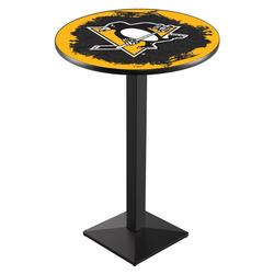 """Pittsburgh Penguins 42"""" Square Base Pub Table"""