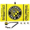 """WinCraft Columbus Crew SC Golf Ball, Towel & Brush Gift Set"""