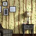 J Boutique pochoirs mur Décor Peinture pochoir, Allover modèle au lieu de papier peint en bambou pour