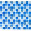 Mosaïque réseau de mosaïque Carrée pour carrelage mosaïque Crystal Mix bleu clair verre translucide transparent 3D Miroir Carrelage mural Cuisine Salle de bain WC