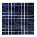 Mosaïque de réseau pour carrelage mosaïque carré Crystal hologramme velours mosaïque bleu verre Effet 3D Miroir Carrelage mural Cuisine Salle de bain WC