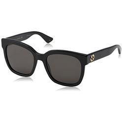 Gucci GG0034S 001 Montures de lunettes, Noir (Black/Grey), 54 Femme