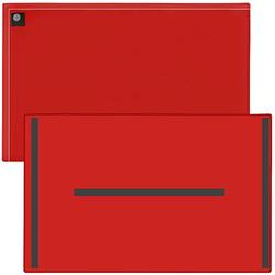 """StoreSMART Magnetic Closure Pockets - Magnetic-Back - 11"""" x 17"""" - 10-Pack - Red - MCP3512MB-R-10"""