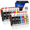 GPC Image Compatible Ink Cartridge Replacement for Canon 250XL 251XL PGI-250XL CLI-251XL to use with Pixma MX922 MG7520 MG5520 MG5420 MG6620 (4 PGBK,2 Black,2 Cyan,2 Magenta,2 Yellow,2 Gray) 14-Pack