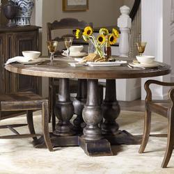 Hooker Furniture Hill Country Dining Table Wood in Black/Brown, Size 30.25 H in   Wayfair 5960-75203-BRN