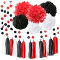 Black Red Graduation Party Decorations 2021 Minnie Mouse Party Supplies 18th Birthday Party Decorations/White Black Red Baby Ladybug Birthday Party Decorations/First Birthday Girl Decorations