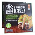 Taco Bell Crunchy & Soft Taco Dinner Kit with Seasoning and Mild Sauce, 12.77-oz Box (Pack of 2 Boxes)