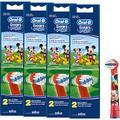 Braun Oral-B Brossettes Stages Power Kids Mickey Mouse Lot de 8 têtes de brosse enfant EB10–2 K Mickey Mouse