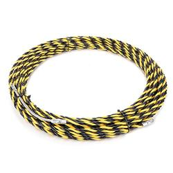 uxcell 66 Feet (20M) Polyester Fish Tape Dia 0.24in (6mm) Electrical Wire Threader Cable Running Rods Fish Tape Pulling
