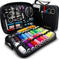 Sewing KIT Premium Repair Set - Sewing Kits for Adults with Over 100 Supplies & 24-Color Threads - a Needle & Thread Kit for Sewing for Quick Fixes, Basic Travel Sewing Kit for On-The-Go Repairs