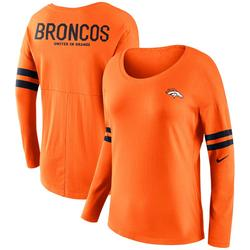"""Women's Nike Orange Denver Broncos Tailgate Long Sleeve T-Shirt"""