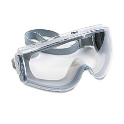 Uvex by Honeywell S3960C Stealth Antifog, Antiscratch, Antistatic Goggles, Clear Lens, Gray Frame