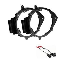 """ASC 6+-Inch 6"""" 6.5"""" 6.75"""" Car Speaker Install Adapter Mount Bracket Plates and Speaker Wire Connectors for Select GM Chevrolet GMC Pontiac Saturn Vehicles - Compatible Vehicles Listed Below"""