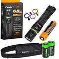 FENIX UC30 2017 USB Rechargeable 1000 Lumen Cree XP-L HI LED Flashlight with, rechargeable battery, USB charging cable and 2 X EdisonBright lithium CR123A back-up batteries bundle