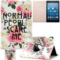 Kindle Fire HD 8 Case, Artyond Folio [Cards Slots] PU Leather Case Flip Stand Magnet [Auto Wake/Sleep Feature] Protective Smart Case For Amazon Kindle Fire HD 8 2016 Release (Rose Flower)
