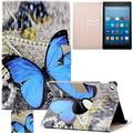 Kindle Fire HD 8 Case, Artyond Folio [Cards Slots] PU Leather Case Flip Stand Magnet [Auto Wake/Sleep Feature] Protective Smart Case For Amazon Kindle Fire HD 8 2016 Release (Big Butterfly)