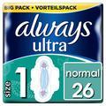 Always Ultra Normal hygiéniques avec ailettes lot de 4 (4 x 26 pièces)