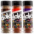 DAK's GRILL SET 3 PACK – Grill it the no-sodium way to your heart's content! 100% salt free and 100% MSG free seasoning that will make your barbecue come alive! Rub it, sprinkle it, coat it.