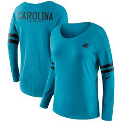 Women's Nike Blue Carolina Panthers Tailgate Long Sleeve T-Shirt