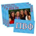 Pi Beta Phi 4-inch by 6-inch Magnetic Frame and Bonus Magnet, 3-pack