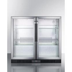 Summit SCR7012D 36 Inch Wide 7.4 Cu. Ft. Freestanding Merchandiser Refrigerator Stainless Steel