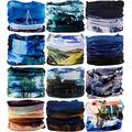 VANCROWN Headwear Head Wrap Sport Headband Sweatband 220 Patterns Magic Scarf 12PCS & 6PCS 12 in 1 (12PCS.Ocean.1)
