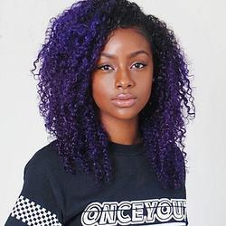 MZP Femme Perruque Synthétique Sans bonnet Mi Longue Frisés Violet Cheveux Colorés Perruque Naturelle Perruque Déguisement , purple