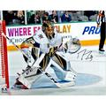 """Marc-Andre Fleury Vegas Golden Knights Autographed 16"""" x 20"""" Franchise Inaugural Game Photograph"""
