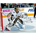 """Marc-Andre Fleury Vegas Golden Knights Autographed 16"""" x 20"""" Franchise Inaugural Game Photograph with """"1st VGK Win 10/6/17"""" Inscription"""