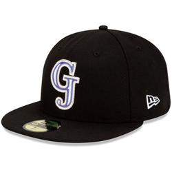 Men's New Era Black Grand Junction Rockies Authentic Home 59FIFTY Fitted Hat