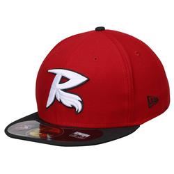 Men's New Era Red/Black Richmond Flying Squirrels Alternate 1 Authentic 59FIFTY Fitted Hat