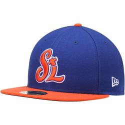 Men's New Era Royal/Orange St. Lucie Mets Authentic Home 59FIFTY Fitted Hat