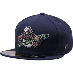 Men's New Era Navy Stockton Ports Alternate 2 Authentic 59FIFTY Fitted Hat