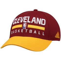 Men's adidas Maroon/Yellow Cleveland Cavaliers 2-Tone Practice Structured Snapback Hat