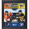 """Fanatics Authentic 2017 NHL Stadium Series Philadelphia Flyers vs. Pittsburgh Penguins Framed 15"""" x 17"""" Match-Up Collage with Pieces of Game-Used Puck - Limited Edition 250"""