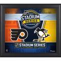 "2017 NHL Stadium Series Philadelphia Flyers vs. Pittsburgh Penguins Framed 15"" x 17"" Match-Up Collage"