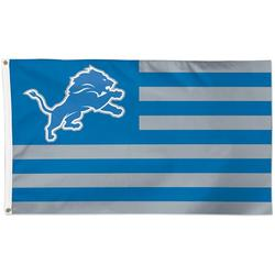 Detroit Lions WinCraft 3' x 5' Americana Stars & Stripes Deluxe Flag