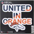 "Denver Broncos 6"" x Xpression Full Color Repositionable Decal"