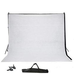 BalsaCircle 8 ft x 10 ft Photo Video Studio Backdrop Stand Kit Background Support System Wedding Photography + 2 Free Backdrops