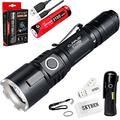 klarus XT11GT 2000 Lumens 18650 Tactical USB Rechargeable Flashlight with 1x 3100mah Battery,USB Charging Cable,Holster,O-Ring and SKYBEN USB Light and Battery Case(XT11GT)