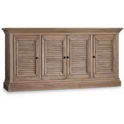 "Hooker Furniture 5484-55472-LTWD Regatta 72"" Wide Coastal Farmhouse Entertainment Media Console with"