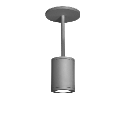 """WAC Lighting DS-PD05-N Tube Single Light 4-15/16"""" Wide Integrated LED Outdoor Mini Pendant with 25°"""